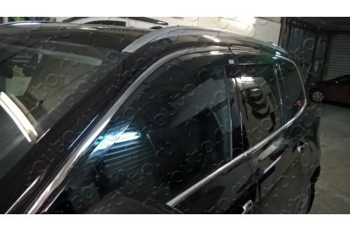 Дефлекторы окон с нержавеющим молдингом  Volvo XC90 2