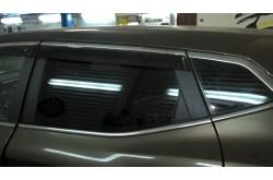 Дефлекторы окон с хром молдингом Nissan X-Trail T32