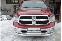 Защита переднего бампера двойная Dodge Ram 1500