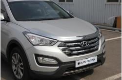 Хромированный дефлектор капота Hyundai Santa Fe III
