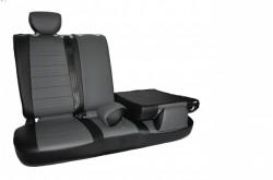 Авточехлы Hyundai Solaris черные с серым