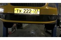 Сетка в бампер Skoda Octavia A5 с установкой