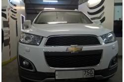 Сетка в бампер Chevrolet Captiva с установкой