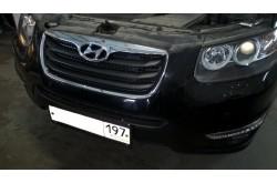 Сетка в бампер Hyundai Santa Fe 2 с установкой