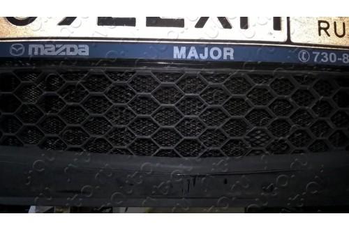 Сетка в бампер Mazda 3 с установкой