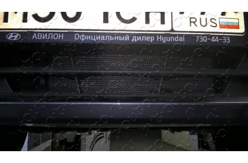 Защитная сетка в бампер Hyundai Solaris с установкой