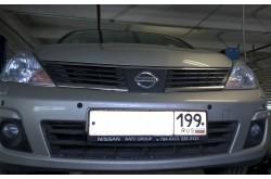 Сетка в бампер Nissan Tiida с установкой