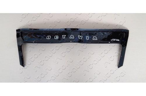Дефлектор капота Skoda Octavia A5 с клыками