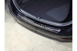 Накладка на задний бампер Hyundai Solaris седан