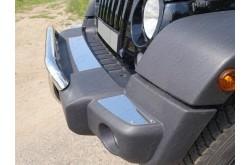 Накладка на передний бампер Jeep Wrangler