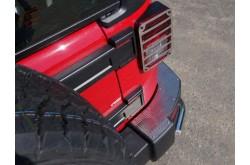 Накладка на задний бампер Jeep Wrangler