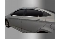 Накладки низа стекол Hyundai Solaris