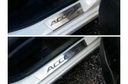 Накладки на пороги Hyundai Accent