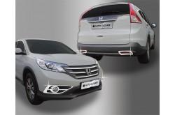 Молдинги ПТФ Honda CRV (передн. и задн.)