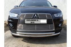 Решетка радиатора Mitsubishi Outlander XL 2 нижняя 12мм