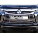 Решетка радиатора Mitsubishi Pajero Sport 3  нижняя с парктроником 12мм