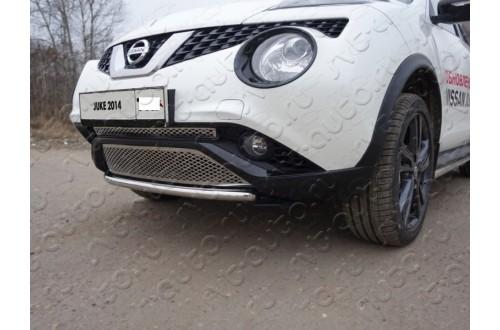 Решетка радиатора Nissan Juke рестайлинг нижняя