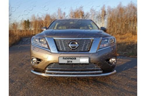 Решетка радиатора Nissan Pathfinder R52 нижняя 12мм