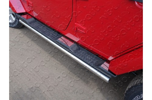 Накладки на пластиковые пороги Jeep Wrangler