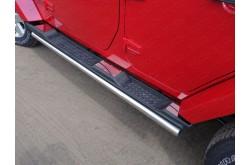 Накладки на пластиковые пороги Jeep Wrangler 3D