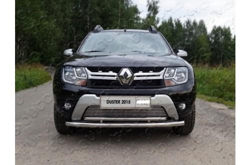Решетка радиатора Renault Duster рестайлинг нижняя 12мм