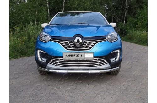 Решетка радиатора Renault Kaptur верхняя 16мм