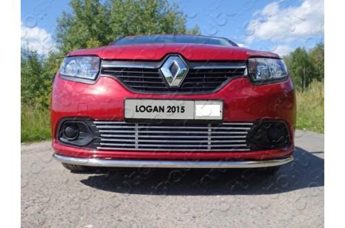 Решетка радиатора Renault Logan 2 нижняя 12мм