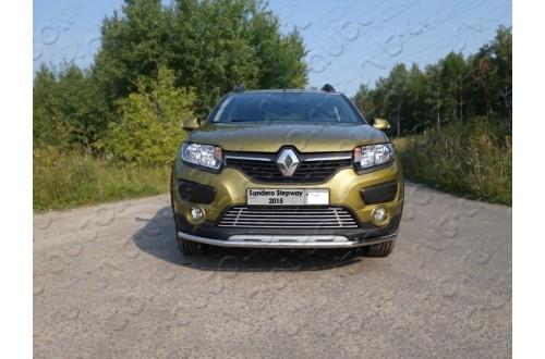 Решетка радиатора Renault Sandero Stepway 2 нижняя 12мм