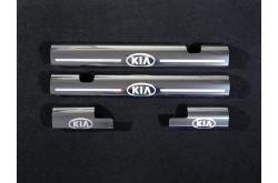 Накладки на пластиковые пороги Kia Rio 3