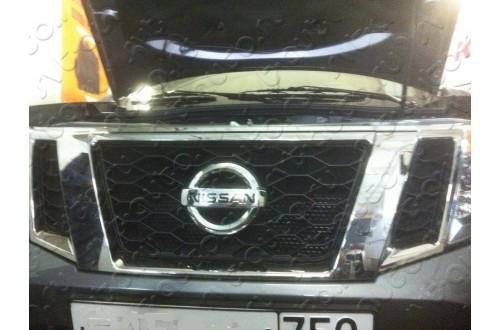 Сетка в бампер с установкой Nissan Pathfinder