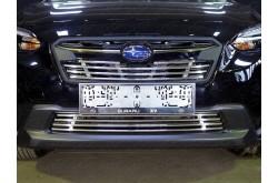 Решетка радиатора Subaru XV 2 верхняя 12мм