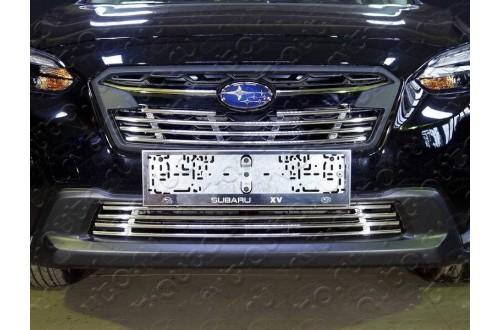 Решетка радиатора Subaru XV 2 нижняя 12мм
