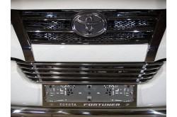 Решетка радиатора Toyota Fortuner 2 нижняя 12мм