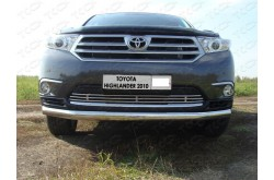 Решетка радиатора Toyota Highlander 2 рестайлинг нижняя 12мм