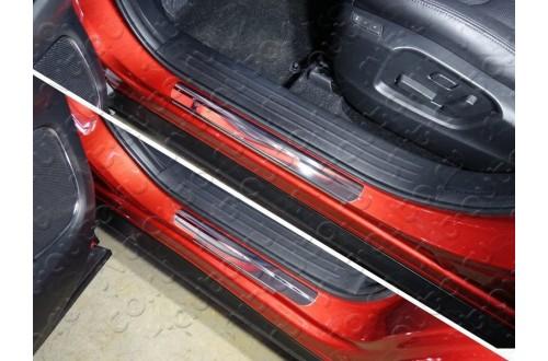 Накладки на пороги Mazda CX-9