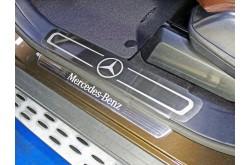 Накладки на пороги Mercedes GL166