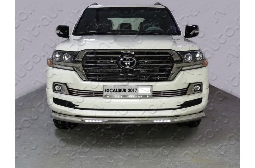 Решетка радиатора Toyota Land Cruiser 200 Excalibur 12мм низ