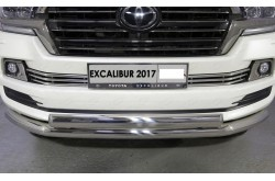 Решетка радиатора Toyota Land Cruiser 200 Excalibur 16мм низ