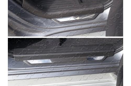 Накладки на пороги Mitsubishi Pajero Sport 3