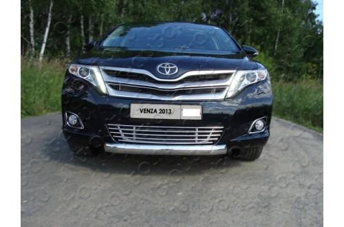 Решетка радиатора Toyota Venza рестайлинг нижняя 12мм