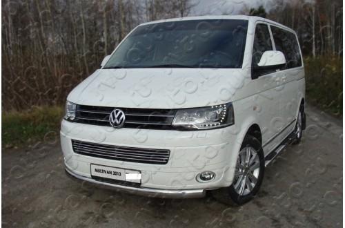Решетка радиатора Volkswagen Multivan T5 рестайлинг нижняя 12мм