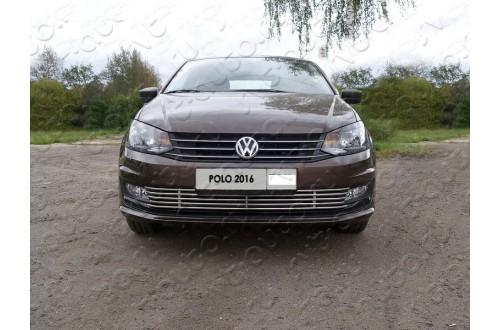 Решетка радиатора Volkswagen Polo 5 рестайлинг нижняя 12мм
