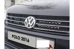 Решетка радиатора Volkswagen Polo 5 рестайлинг верхняя