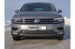 Решетка радиатора Volkswagen Tiguan 2 средняя 16мм