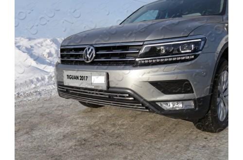 Решетка радиатора Volkswagen Tiguan 2 нижняя 16мм