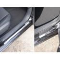 Накладки на пороги Nissan Tiida 2