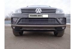 Решетка радиатора Volkswagen Touareg 2 рестайлинг нижняя