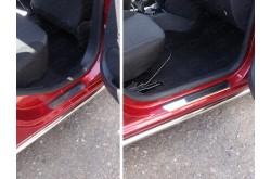 Накладки на пороги Renault Logan 2