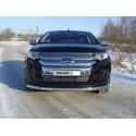 Защита переднего бампера с ДХО Ford Edge