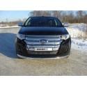 Защита переднего бампера овальная с ДХО Ford Edge